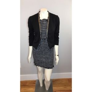 H&M Little Black Beaded Blazer w/ Ruched Sleeves